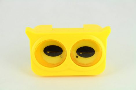 Colorful Eyes contact lens storage Set, Color: yellow