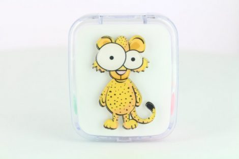 Animal pattern contact lens storage kit, Color: leopard