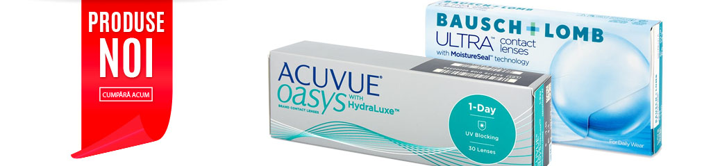 Produse noi in catalog - Acuvue Oasys 1 Day si Bausch&Lomb Ultra
